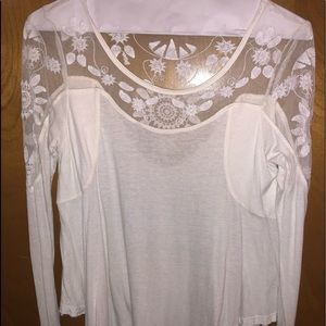 Free People lace detailed top